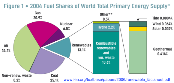 World Primary Energy Supply, IEA 2004