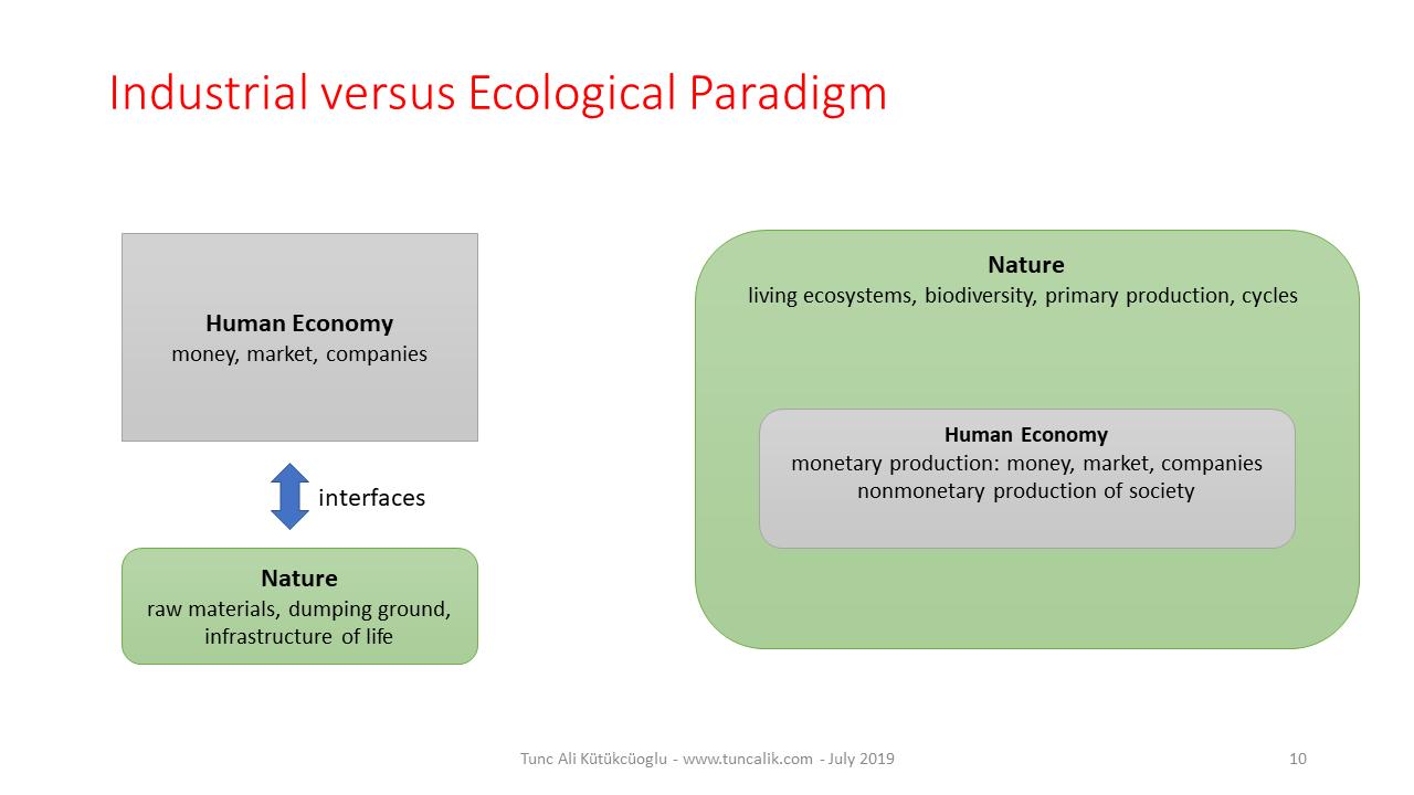 Industrial vs Ecological Paradigm